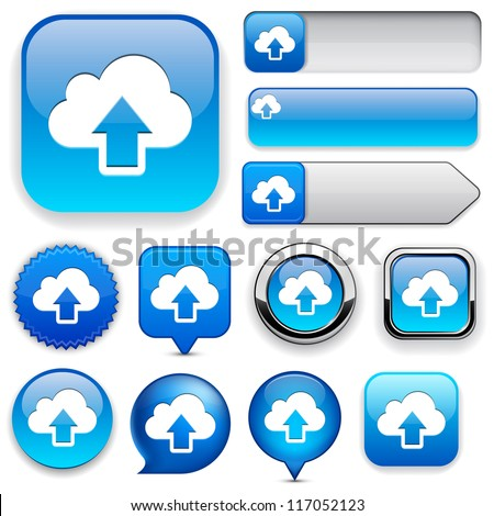 Sync blue design elements for website or app. Vector eps10. - stock vector