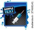 syringe on classy modern style grunge template - stock vector