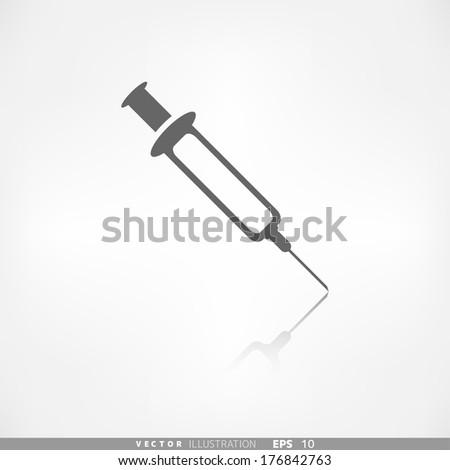 Syringe web icon - stock vector