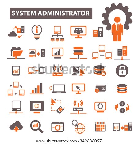system administrator - stock vector