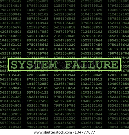 System failure - stock vector