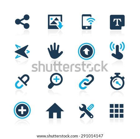 System Icons Interface // Azure Series - stock vector
