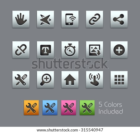 System Icons Interface The vector file includes 5 color versions for each icon in different layers ---- - stock vector