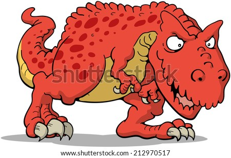 T Rex Cartoon - stock vector
