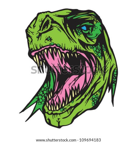 T-Rex Head - stock vector