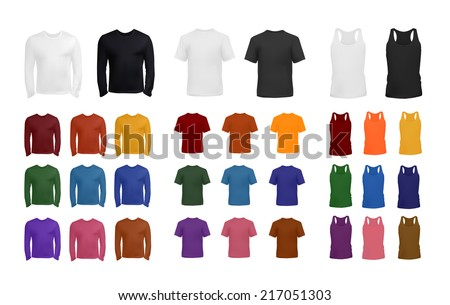 T shirt collection - stock vector