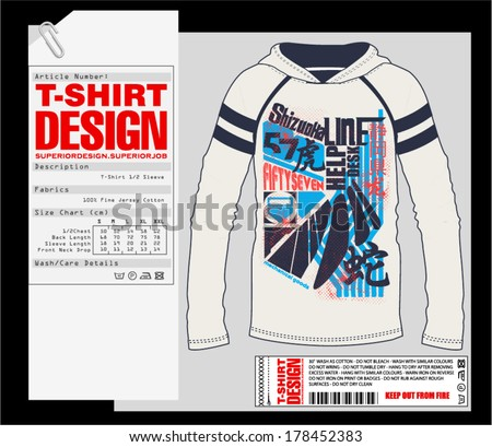 T-Shirt Design. Print Design. College - Varsity T-Shirt. Vector eps. Eps10 - stock vector