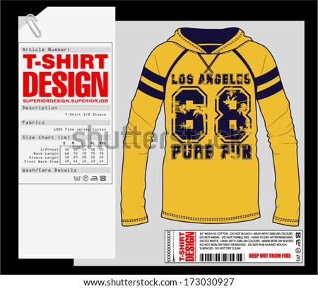 T-Shirt Design. Print Design. College - Varsity T-Shirt. Vector eps. Eps10irt - stock vector