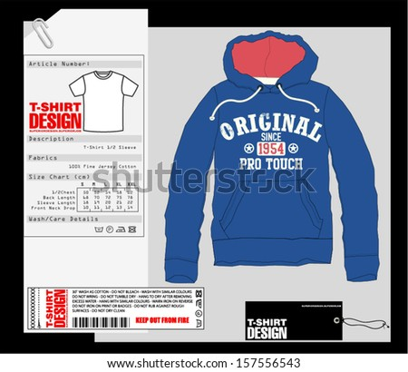 T-Shirt Design / Print Design / Sweatshirt - stock vector