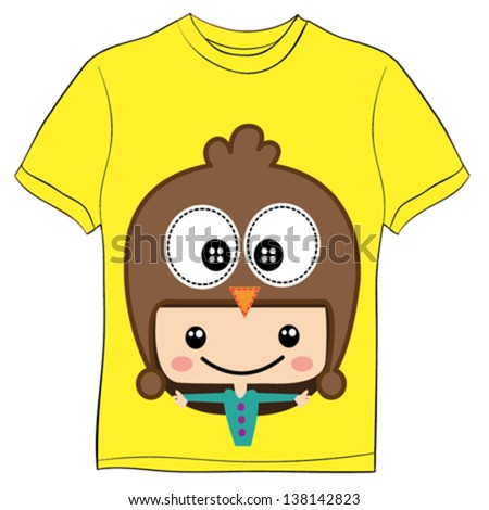 T-shirt graphics / cute cartoon characters / cute graphics for kids / Book illustrations / textile graphic - stock vector