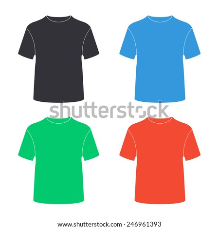 t-shirt icon - colored vector illustration - stock vector