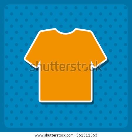 T-shirt  icon. vector design - stock vector