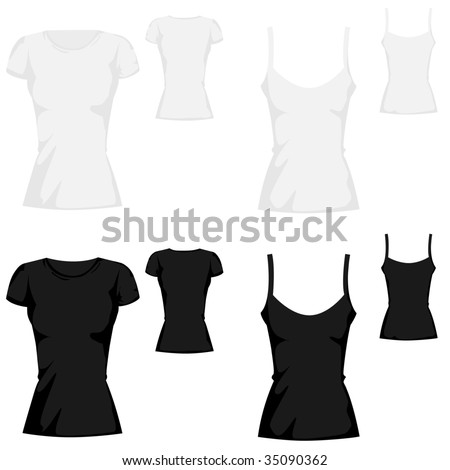 t-shirt  template collection - stock vector