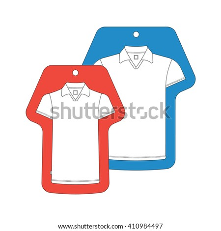 T-shirt template tag. Vector t-shirts tags isolated on white. Cloth  tag, cloth label. - stock vector