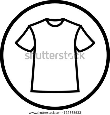 T-shirt. Vector tee icon - stock vector