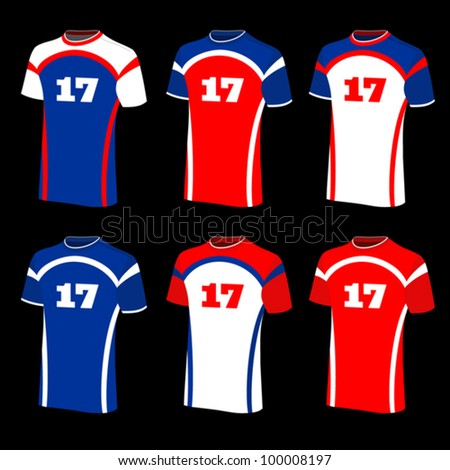 T-shirts sports isolated. Vector illustration. - stock vector