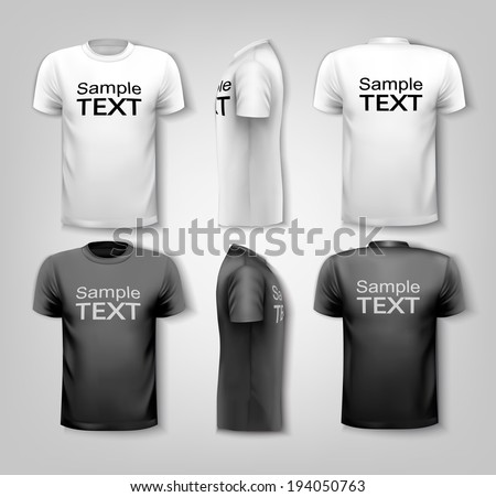T-shirts with sample text space. Vector. - stock vector