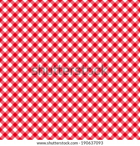 Table cloth seamless pattern red. Vector illustration - stock vector