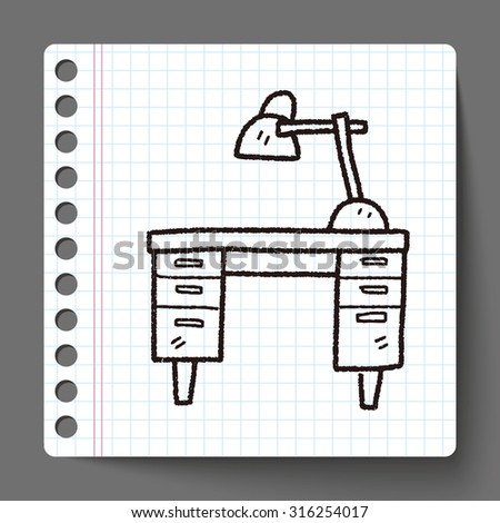 table doodle - stock vector