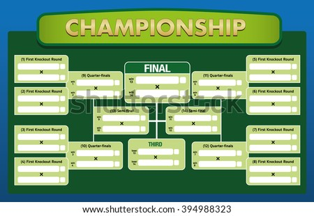 Table sequence of result sets, stages of a championship groups. Ideal for sporting matters of institutional competition - stock vector