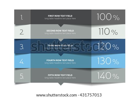 Table template.  - stock vector