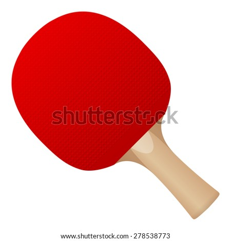 Table tennis bat on a white background. - stock vector