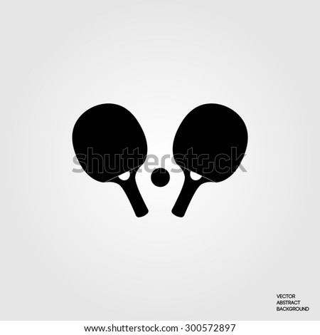 Table tennis. Ping-pong. Tennis rackets. Sport game. Hobby - stock vector