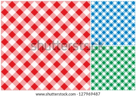 Tablecloths vector background. - stock vector