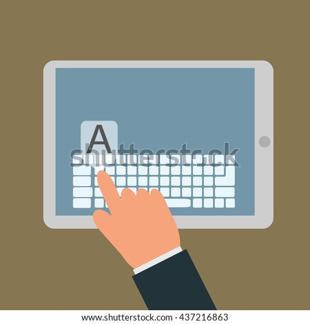 tablet - stock vector