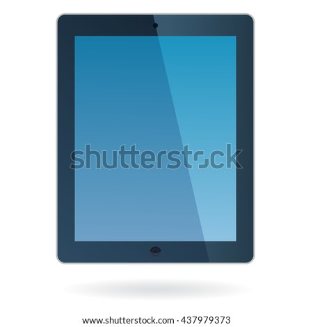 Tablet computer. Color Tablet vector. Tablet  illustration. Tablet icon. Touchpad flat design. - stock vector