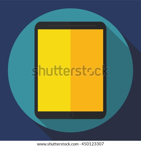 tablet computer icon. Flat style. Vector graphics - stock vector