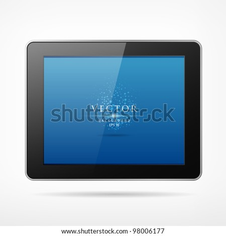 Tablet computer mobile phone. vector illustration - stock vector