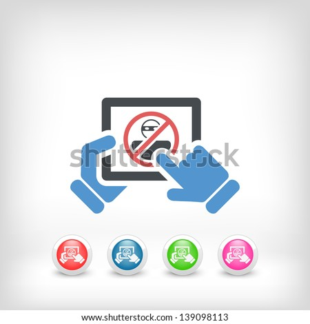 Tablet password accesss concept icon - stock vector