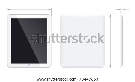 Tablet pc - stock vector