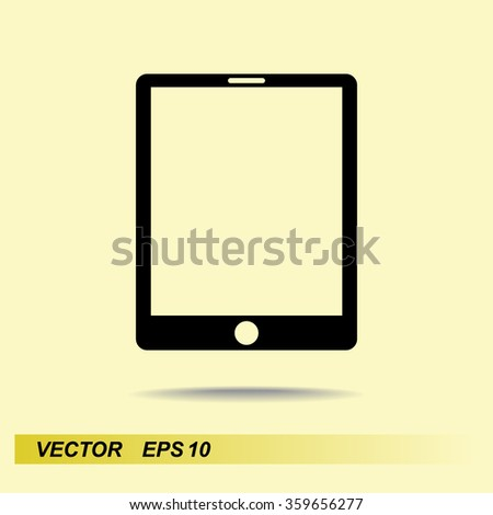 Tablet PC sign icon, vector illustration. Flat design style - stock vector