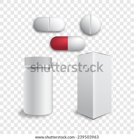 Tablets and pills vector - stock vector