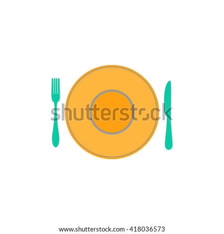 tableware Simple flat vector icon - stock vector
