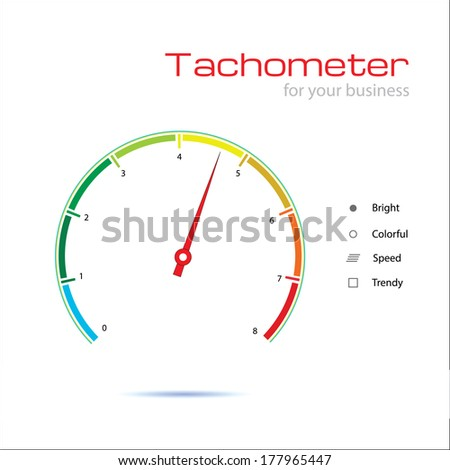 tachometer for your business - stock vector