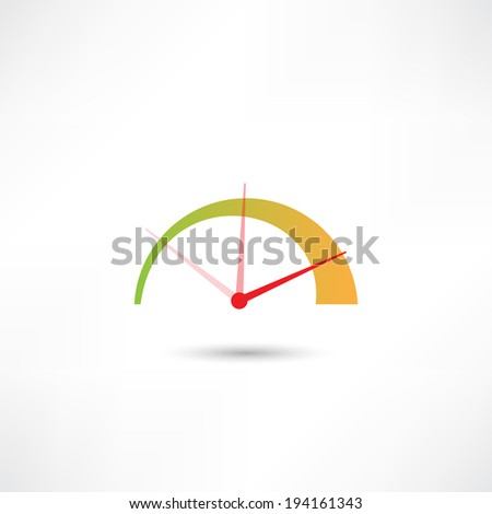 tachometer icon - stock vector