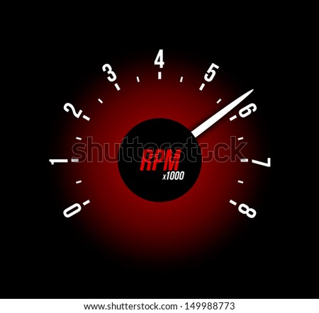 Tachometer. Vector illustration - stock vector