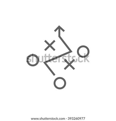 Tactical plan line icon. - stock vector