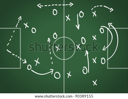 tactics blackboard - stock vector