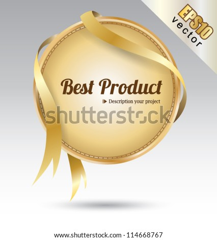 Tag Best product, can use for your business concept, education banner, brochure object, promotion festival. - stock vector