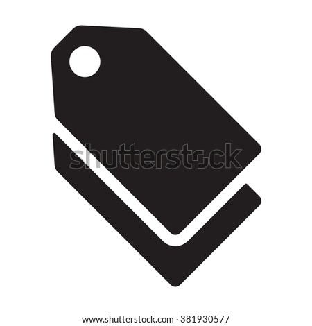 Tag icon on the white background - stock vector