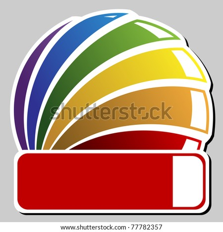 tagged round badge - stock vector