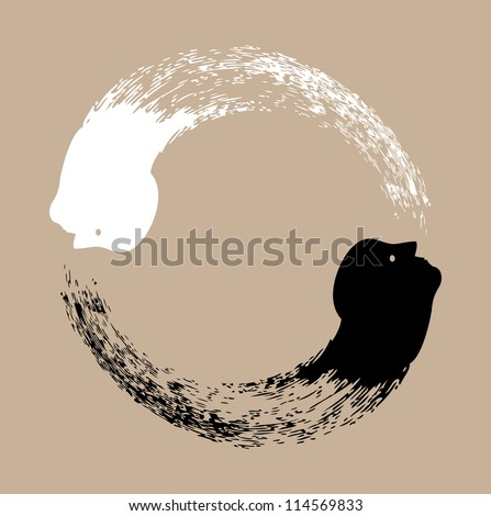Taichi yin and yang - stock vector
