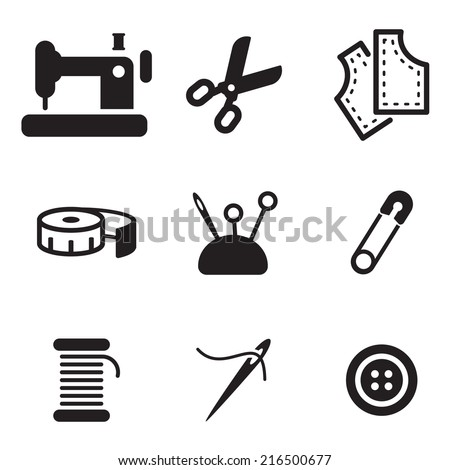 Tailor Shop Icons - stock vector
