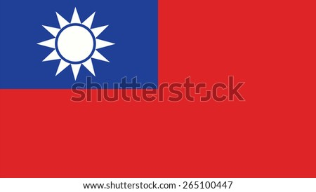 taiwan Flag for Independence Day and infographic Vector illustration. - stock vector