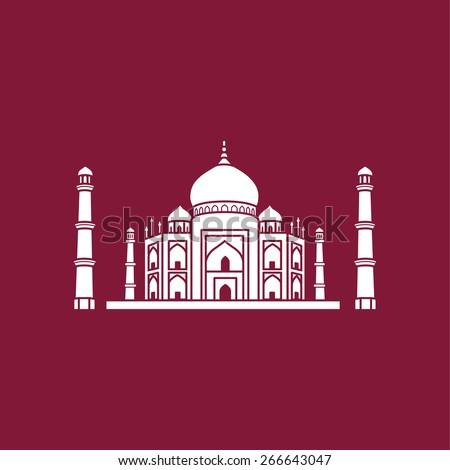 Taj Mahal, Agra, India - stock vector