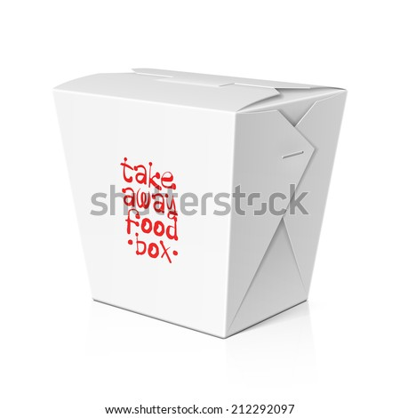 Take away food, noodle box. Vector. - stock vector